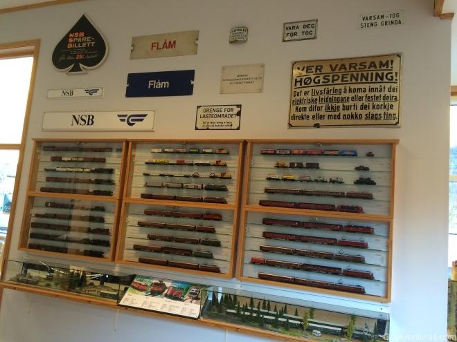 Todos los ejemplares de tren usados en el Flamsbana