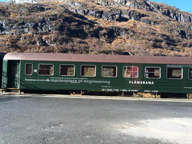 El tren de Flam en Myrdal