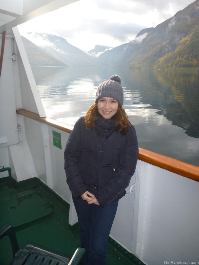 Foto del recuerdo en el Nærøyfjord