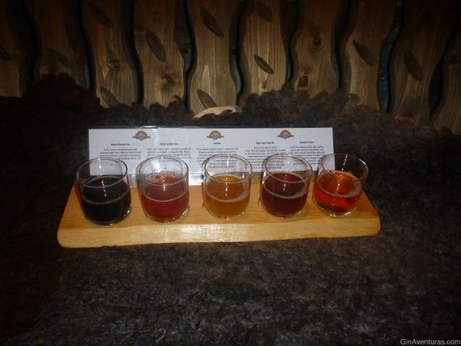 Beer tasting en la Ægir Brewery