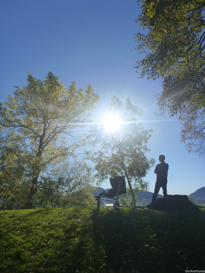 Copito haciendo su siesta en el lugar más tranquilo de Bergen