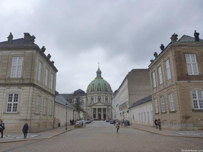 Frederiks kirke desde el Palacio de Amalienborg
