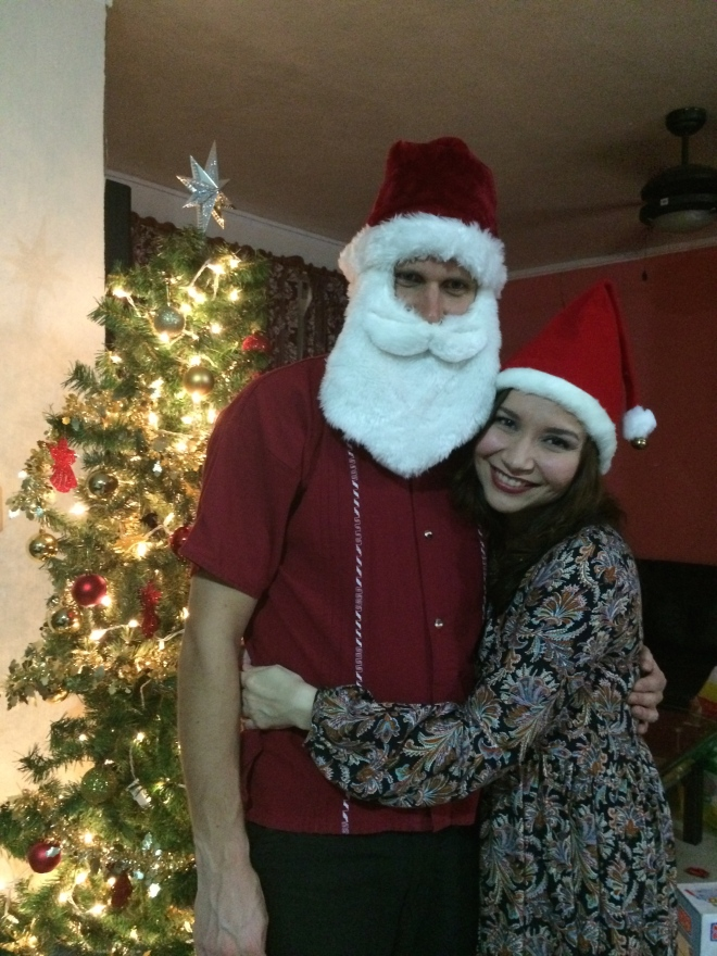 ¡Abracé a Santa!