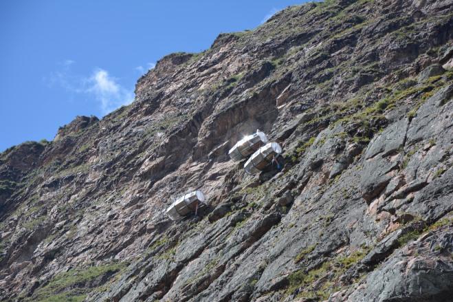 Cabinas para los escaladores