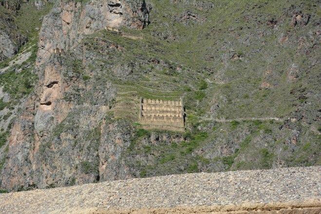 Casas de almacenamiento en Ollantaytambo