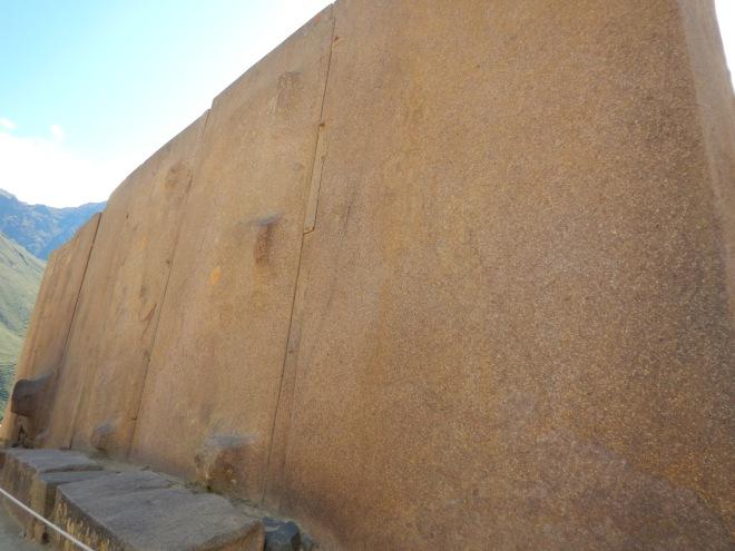 Las grandes piedras en el Templo del Sol