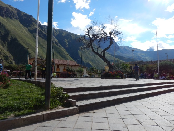Plaza principal de Ollantaytambo