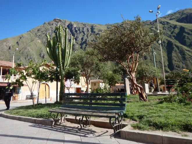La tranquilidad del la Plaza Principal de Ollantaytambo