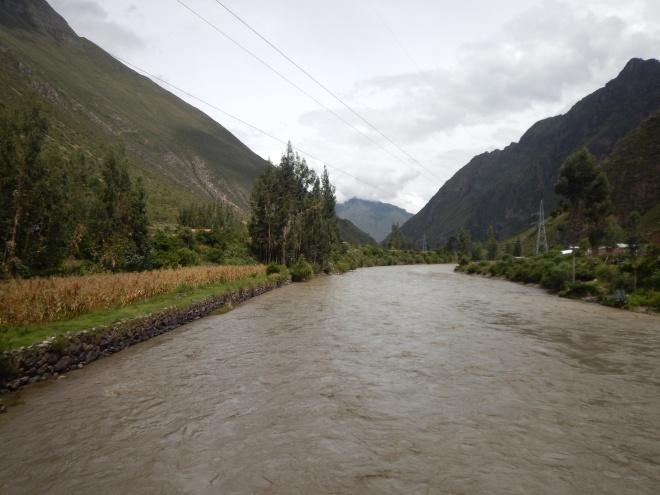 Paisajes desde el tren a Machu Picchu