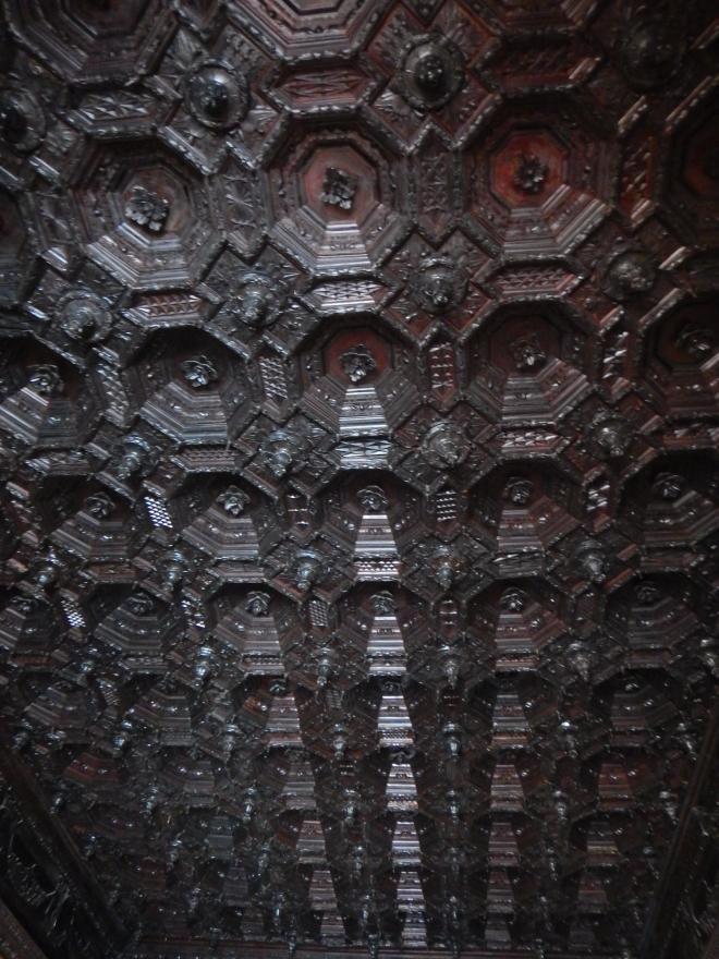Algunos detalles del techo en el Monasterio de Santo Domingo