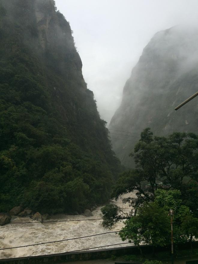 Vista desde la habitación en Panorama B&B, Machu Picchu pueblo