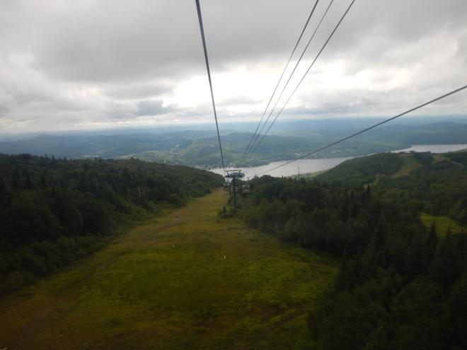 El trayecto duró unos 10 minutos a la cima