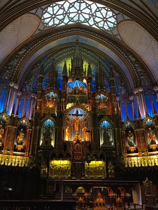 Altar Mayor de la Basílica Notre-Dame de Montreal