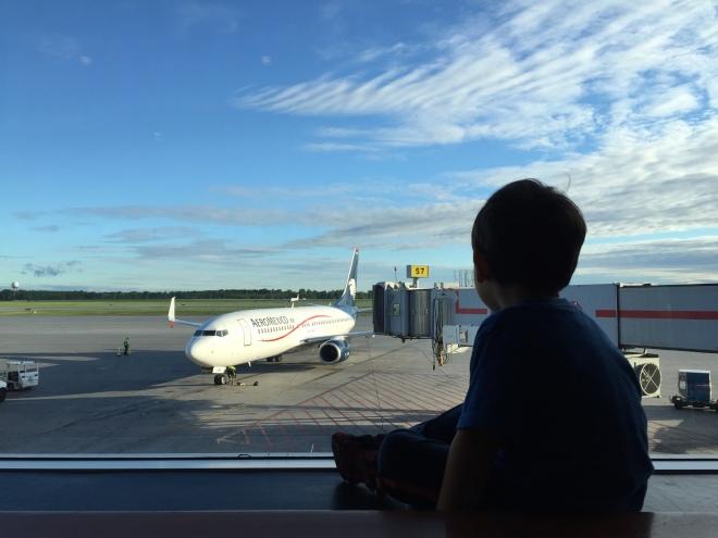 Nuestro avión de regreso a casa