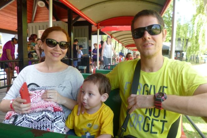 Yucafamily en el trenecito